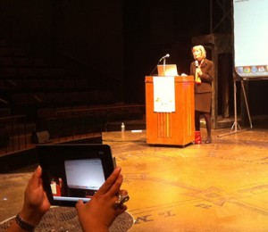 Congresswoman Lois Capps speaking on technology and jobs